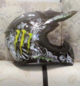 Шлем для  мотокроса или BMX