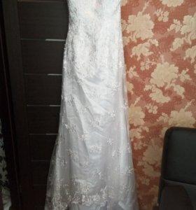Новое свадебное кружевное платье!