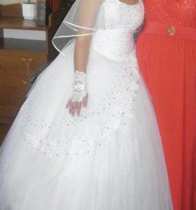 Свадедное платье и туфли 36размер