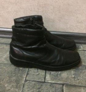 Ботинки  кожаные демисезонные для мальчика