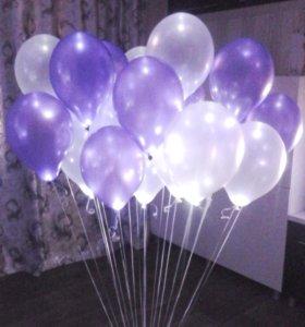 Гелиевые шары, светящиеся шары