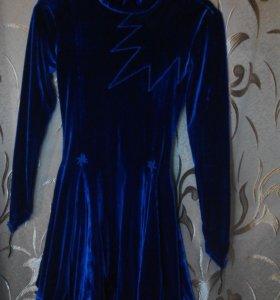 Платье рейтинговое , синий бархат.