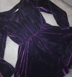 Платье рейтинговое , бордовый бархат