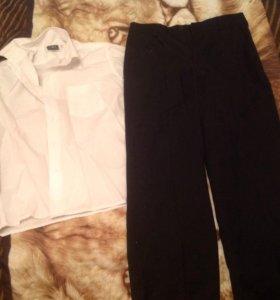 Брюки и рубашка для мальчика ,128 рост