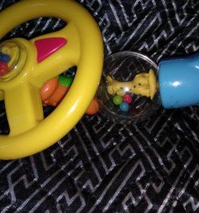 Руль на коляску или кроватку