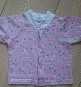 Трикотажная рубашка на девочку 6-12 мес