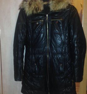 Куртка зимняя с мехом енота