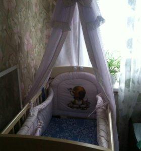 Детская кроватка+балдахин