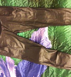 Леггинсы для беременных кожаные S-M (новые)