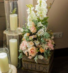 Декоративные цветы и цветочные композиции