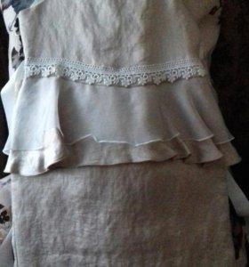 Платье с баской(новое)
