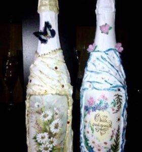 Быки, подарочные бутылки