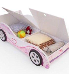 Кровать машинка с ящиками. Новая