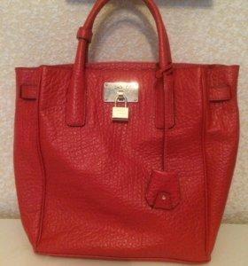 Новая красная сумка DKNY оригинал кожа