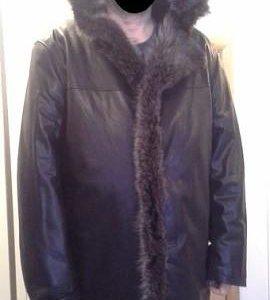 Большая кожаная куртка. Зимняя