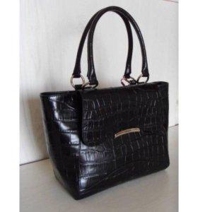 Новая черная сумка Gaude из натуральной кожи