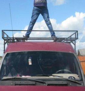 Багажник с лестницей на цельнометалтческую Газель