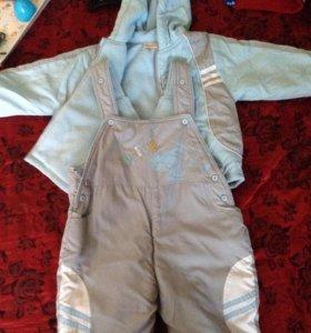 Продам детский межсезонный костюм 90см