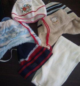 4 шапки +шарф
