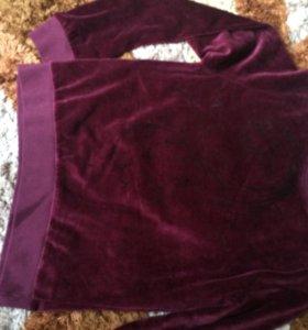 Велюровый свитер подростковый
