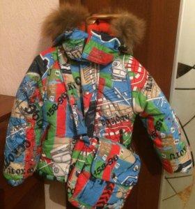 Новый зимний костюм для мальчика на 1-2 годика.