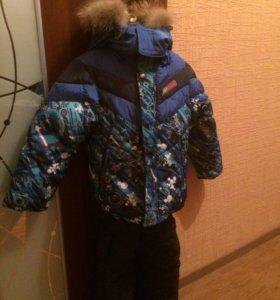 Новый зимний костюм тройка для мальчика на 3-4 г.