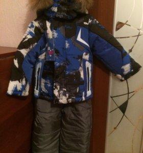 Новый зимний костюм тройка для мальчика р.92-98