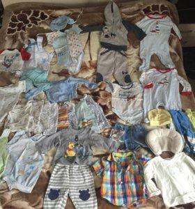Пакет вещей на мальчика 4-7 месяцев