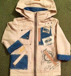 Куртка на флисе (рост - 98 см).