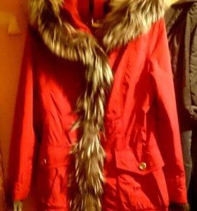 Пихора / зимняя куртка с подстежкой из меха кролик