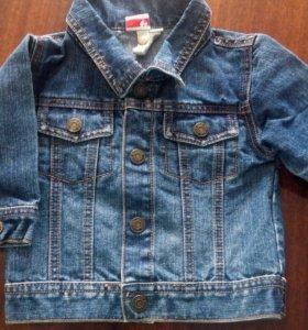 Курточка джинс. 68 см.