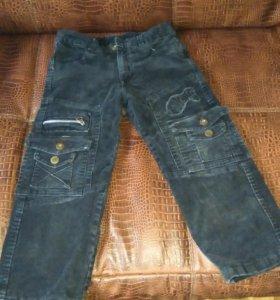 Теплые вельветовые брюки