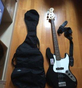 Бас-гитара, чехол, ремень