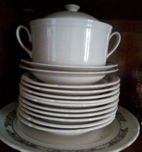 Супница+ тарелки