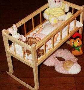 Кровать-качалка для кукол
