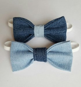Бабочки-галстуки из джинсовой ткани