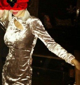 Платье бархат.  Камни Сваровски стекло