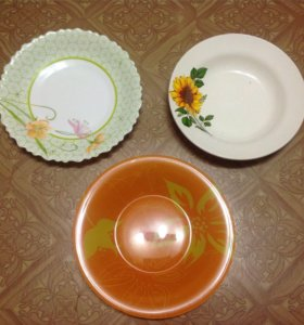 Кружки, тарелки, приборы