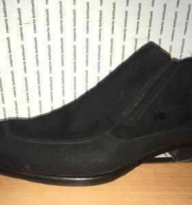 Натуральные замшевые ботинки Botticelli (оригинал)