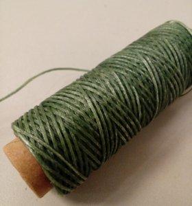 Вощеные нитки зеленого цвета