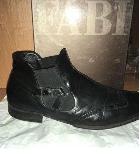 Ботинки кожаные демисезонные