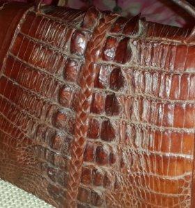 Барсетка из кожи крокодила