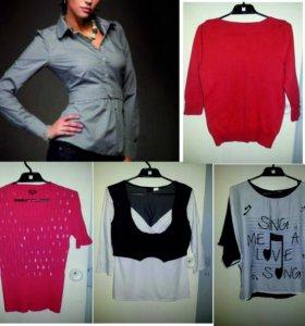 Блузки и пуловер, р-р 46-48