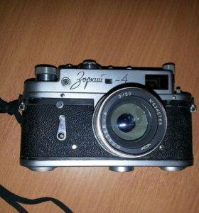 "Фотоаппаат ""Зоркий-4"" плёночный."