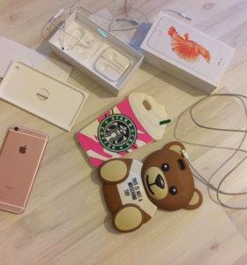 """iPhone 6s Plus 16gb """"розовое золото"""""""