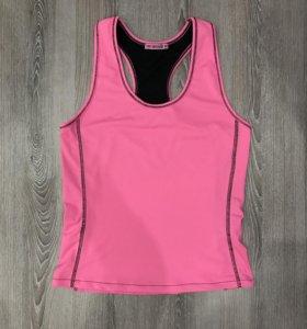 Майка розовая спортивная размер S