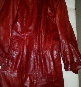 Пальто кожа натур