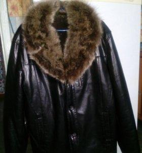 Куртка кож-зам зимняя 54размер