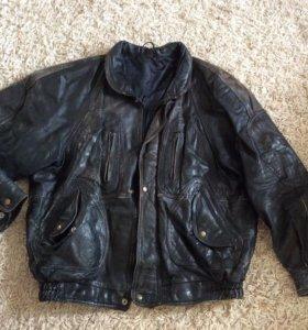 Курточка кожаная рабочая. Размер 52