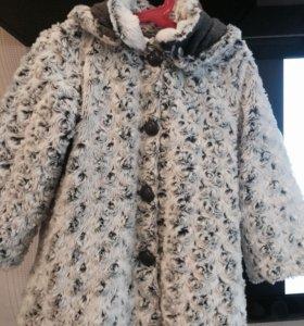Пальто из искусственного меха 92-104
